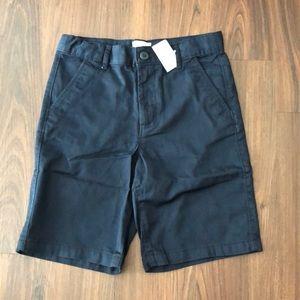 Boys Navy Blue chino shorts- new with tags- Sz 8
